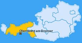 Karte von Obernberg am Brenner