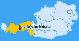 Karte von Schönberg im Stubaital