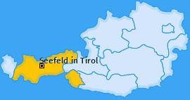 Karte von Seefeld in Tirol