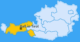 Karte von Hall in Tirol