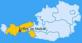 Karte von Telfes im Stubai