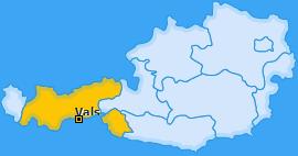 Karte von Vals