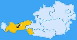 Karte von Zirl