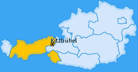 Bezirk Kitzbühel Landkarte