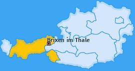 Karte von Brixen im Thale
