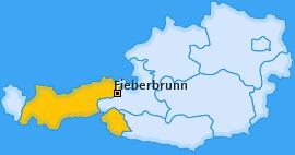 Karte von Fieberbrunn