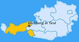 Karte von Kirchberg in Tirol