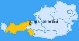 Karte von Sankt Johann in Tirol
