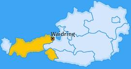 Karte von Waidring