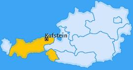 Bezirk Kufstein Landkarte