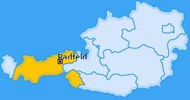 Karte von Radfeld