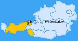Karte von Scheffau am Wilden Kaiser