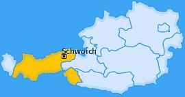 Karte von Schwoich