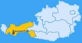 Karte von Kaunertal