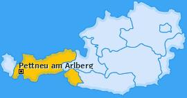 Karte von Pettneu am Arlberg