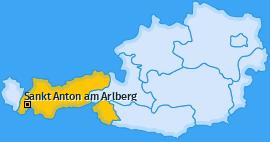 Karte von Sankt Anton am Arlberg