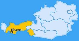 Karte von Tösens