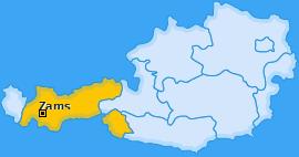 Karte von Zams