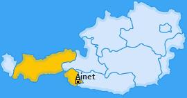 Karte von Ainet
