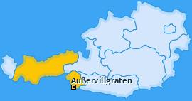 Karte von Außervillgraten
