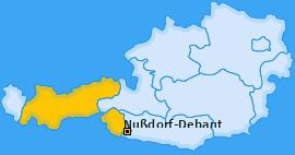 Karte von Nußdorf-Debant