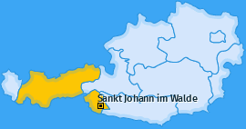 Karte von Sankt Johann im Walde