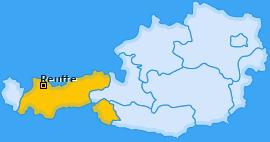 Bezirk Reutte Landkarte