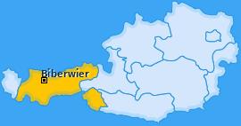Karte von Biberwier