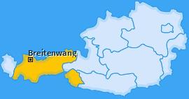 Karte von Breitenwang