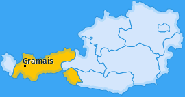 Karte von Gramais