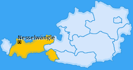 Karte von Nesselwängle