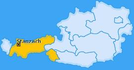 Karte von Stanzach