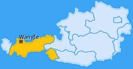 Karte von Wängle