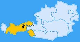 Bezirk Schwaz Landkarte