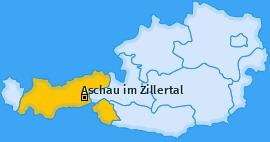 Karte von Aschau im Zillertal