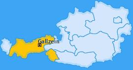 Karte von Gallzein