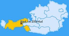 Karte von Hart im Zillertal