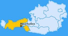 Karte von Mayrhofen