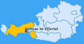 Karte von Ramsau im Zillertal