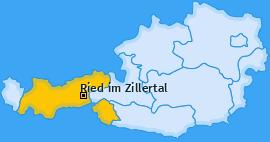 Karte von Ried im Zillertal