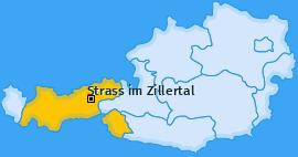 Karte von Strass im Zillertal