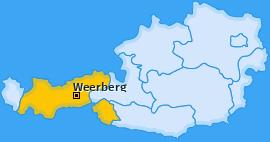 Karte von Weerberg