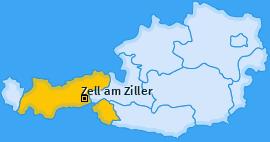 Karte von Zell am Ziller