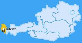 Bezirk Bludenz Landkarte