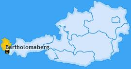 Karte von Bartholomäberg