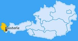 Karte von Klösterle