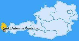 Karte von Sankt Anton im Montafon