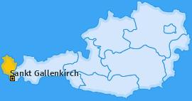 Karte von Sankt Gallenkirch