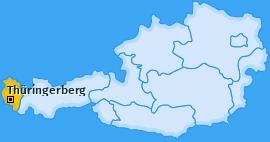 Karte von Thüringerberg