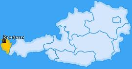 Bezirk Bregenz Landkarte